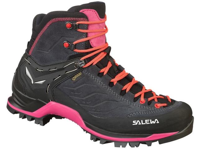 SALEWA MTN Trainer Mid GTX Chaussures Femme, asphalt/sangria